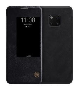 """Odinis juodas atverčiamas dėklas Huawei Mate 20 Pro telefonui """"Nillkin Qin"""""""