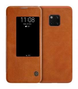 """Odinis rudas atverčiamas dėklas Huawei Mate 20 Pro telefonui """"Nillkin Qin"""""""