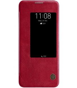 """Odinis raudonas atverčiamas dėklas Huawei Mate 20 Pro telefonui """"Nillkin Qin"""""""