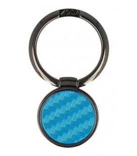 """Mėlynas universalus telefono laikiklis ant piršto - žiedas """"Ring Carbon"""""""