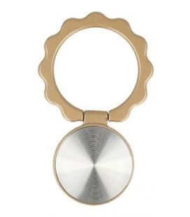"""Auksinės spalvos universalus telefono laikiklis ant piršto - žiedas """"Ring Flower"""""""