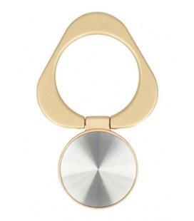 """Auksinės spalvos universalus telefono laikiklis ant piršto - žiedas """"Ring Triangle"""""""