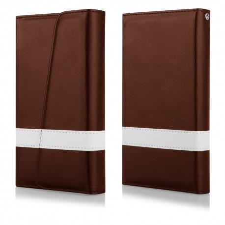 """Atverčiamas rudas dėklas Samsung Galaxy S6 telefonui """"Qult Wallet"""""""
