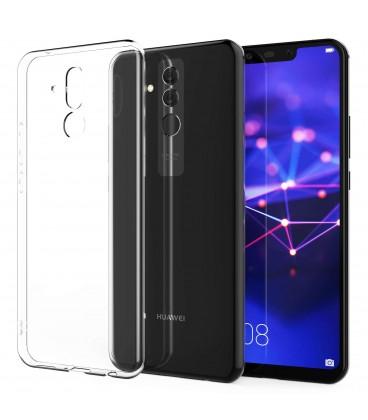Skaidrus plonas 0,3mm silikoninis dėklas Huawei Mate 20 Lite telefonui
