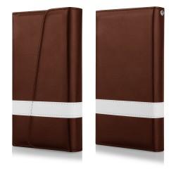 """Atverčiamas rudas dėklas Samsung Galaxy S5 telefonui """"Qult Wallet Wings"""""""