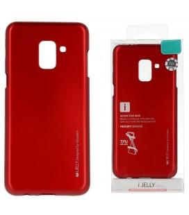 """Raudonas silikoninis dėklas Samsung Galaxy A6 2018 telefonui """"Mercury iJelly Case Metal"""""""
