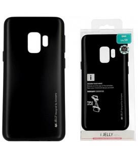 """Juodas silikoninis dėklas Samsung Galaxy S9 telefonui """"Mercury iJelly Case Metal"""""""