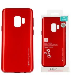 """Raudonas silikoninis dėklas Samsung Galaxy S9 telefonui """"Mercury iJelly Case Metal"""""""