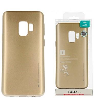 """Auksinės spalvos silikoninis dėklas Samsung Galaxy S9 telefonui """"Mercury iJelly Case Metal"""""""