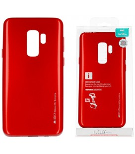 """Raudonas silikoninis dėklas Samsung Galaxy S9 Plus telefonui """"Mercury iJelly Case Metal"""""""