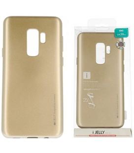 """Auksinės spalvos silikoninis dėklas Samsung Galaxy S9 Plus telefonui """"Mercury iJelly Case Metal"""""""