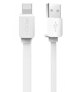 "Baltas USB - Lightning 2.1A laidas 100cm ""ROCK"""