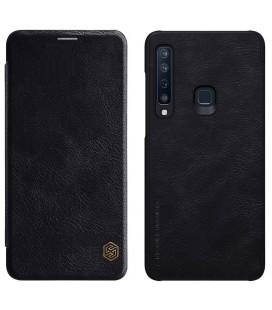 """Odinis juodas atverčiamas dėklas Samsung Galaxy A9 2018 telefonui """"Nillkin Qin"""""""