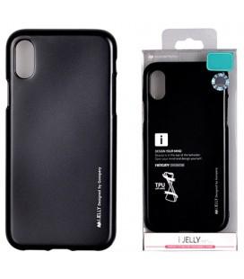 "Juodas silikoninis dėklas Apple iPhone XR telefonui ""Mercury iJelly Case Metal"""