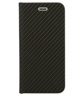 """Juodas atverčiamas Carbon dėklas Huawei Mate 20 Lite telefonui """"Book Vennus Carbon Z"""""""