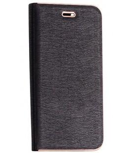 """Juodas atverčiamas dėklas su rėmeliu Xiaomi Pocophone F1 telefonui """"Book Vennus Z"""""""