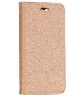 """Auksinės spalvos atverčiamas dėklas su rėmeliu Apple iPhone XR telefonui """"Book Vennus Z"""""""