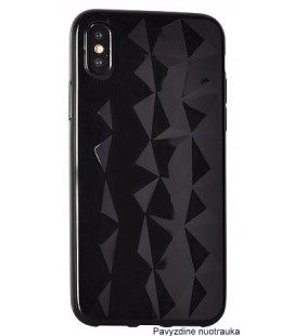 """Juodas dėklas Samsung Galaxy A7 2018 telefonui """"Diamond Case"""""""