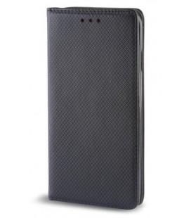 """Juodas atverčiamas dėklas Samsung Galaxy J4 2018 telefonui """"Smart Book Magnet"""""""