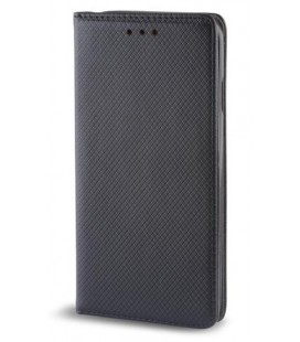 """Juodas atverčiamas dėklas Samsung Galaxy A6 2018 telefonui """"Smart Book Magnet"""""""