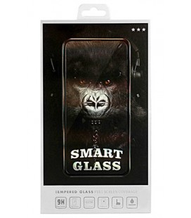 "Juodas apsauginis grūdintas stiklas Apple iPhone XS Max telefonui ""Smart Glass"""