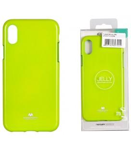 "Žalias silikoninis dėklas Apple iPhone XS Max telefonui ""Mercury Goospery Pearl Jelly Case"""