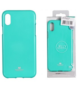 """Mėtos spalvos silikoninis dėklas Apple iPhone XS Max telefonui """"Mercury Goospery Pearl Jelly Case"""""""
