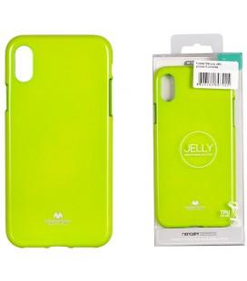 "Žalias silikoninis dėklas Apple iPhone XR telefonui ""Mercury Goospery Pearl Jelly Case"""