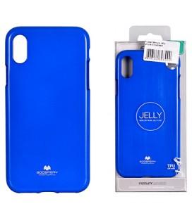 "Mėlynas silikoninis dėklas Apple iPhone XR telefonui ""Mercury Goospery Pearl Jelly Case"""