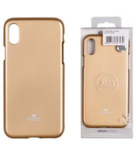 "Auksinės spalvos silikoninis dėklas Apple iPhone XR telefonui ""Mercury Goospery Pearl Jelly Case"""
