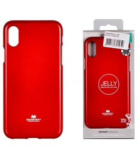 "Raudonas silikoninis dėklas Apple iPhone XR telefonui ""Mercury Goospery Pearl Jelly Case"""