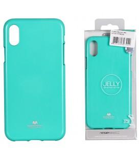 """Mėtos spalvos silikoninis dėklas Apple iPhone XR telefonui """"Mercury Goospery Pearl Jelly Case"""""""