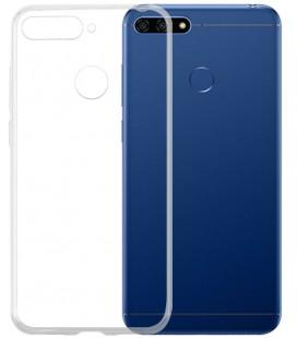 Skaidrus plonas 0,3mm silikoninis dėklas Huawei Y6 2018 telefonui