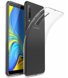 Skaidrus plonas 0,3mm silikoninis dėklas Samsung Galaxy A7 2018 telefonui