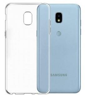 Skaidrus plonas 0,3mm silikoninis dėklas Samsung Galaxy J3 2018 telefonui