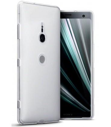 Skaidrus plonas 0,3mm silikoninis dėklas Sony Xperia XZ3 telefonui
