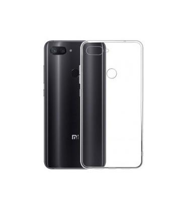 Skaidrus plonas 0,3mm silikoninis dėklas Xiaomi Mi 8 Lite telefonui