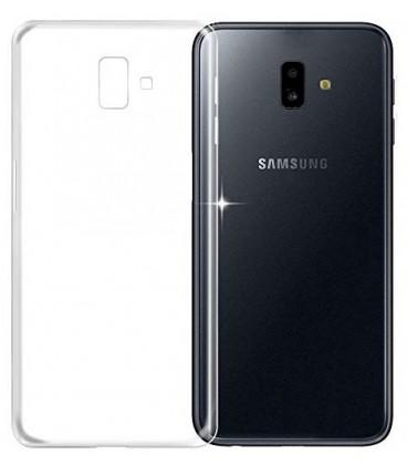 Skaidrus plonas 0,3mm silikoninis dėklas Samsung Galaxy J6 Plus 2018 telefonui