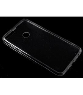 Skaidrus plonas 0,3mm silikoninis dėklas Huawei Y7 Prime 2018 telefonui