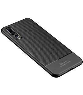 """Juodas dėklas Huawei P20 Pro telefonui """"iPaky Carbon Fiber"""""""