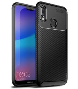 """Juodas dėklas Huawei P20 Lite telefonui """"iPaky Carbon Fiber"""""""