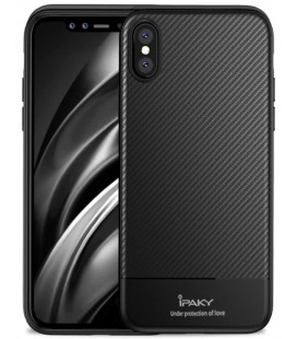 "Juodas dėklas Apple iPhone XS Max telefonui ""iPaky Carbon Fiber"""
