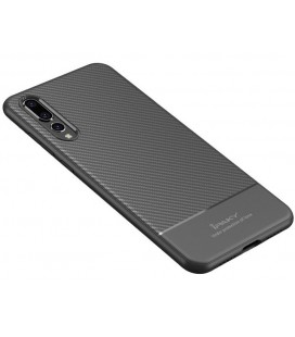 """Pilkas dėklas Huawei P20 Pro telefonui """"iPaky Carbon Fiber"""""""