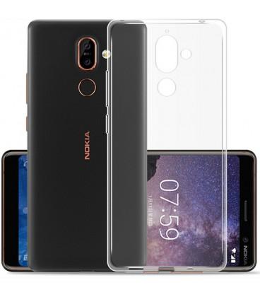 """Skaidrus silikoninis dėklas Nokia 7 Plus telefonui """"Clear"""""""