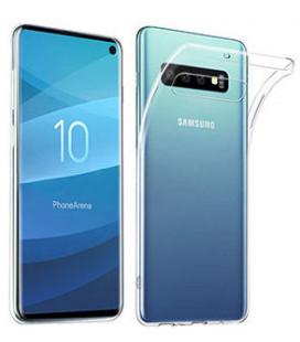 Skaidrus plonas 0,3mm silikoninis dėklas Samsung Galaxy S10 telefonui