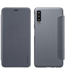 """Atverčiamas pilkas dėklas Samsung Galaxy A7 2018 telefonui """"Nillkin Sparkle"""""""
