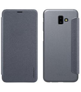 """Atverčiamas pilkas dėklas Samsung Galaxy J6 Plus 2018 telefonui """"Nillkin Sparkle"""""""