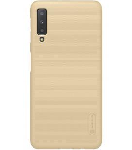 """Auksinės spalvos dėklas Samsung Galaxy A7 2018 telefonui """"Nillkin Frosted Shield"""""""