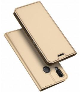 """Auksnės spalvos atverčiamas dėklas Huawei P20 Lite telefonui """"Dux Ducis Skin"""""""