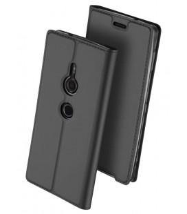 """Pilkas atverčiamas dėklas Sony Xperia XZ3 telefonui """"Dux Ducis Skin"""""""